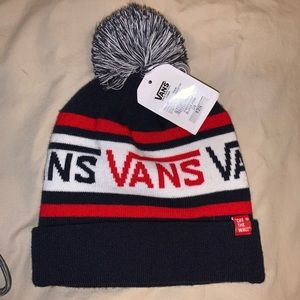 NWT Vans Off the Wall Pom Beanie